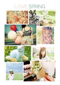 Love spring! Moodboard