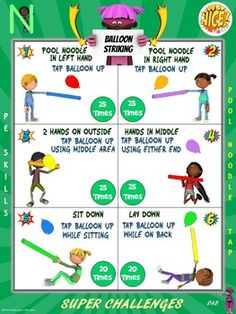 PE Activity: Super Challenge Series- PE Skills Edition
