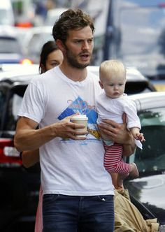 It's so sweet to see daddy Jamie holding his daughter Dulcie. Mom porn? Maybe. So what!