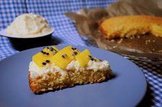 Coconut cake with mango and passion fruit / Ciasto kokosowe z mango i marakują