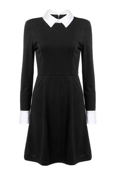 The dress is mainly made from polyester. It is of long sleeve design design.