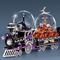 disney nightmare before christmas snowglobe train collection more christmas