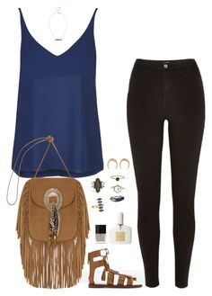 """""""Untitled #791"""" by haleym511 ❤ liked on Polyvore featuring Zara, River Island, Topshop, Yves Saint Laurent, Tom Ford, Butter London, House of Harlow 1960, Mei-Li Rose, Uzerai Edits and Michael Kors"""