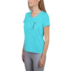 This pink t-shirt easily combines comfort and style – the sports mesh fabric with moisture management is sure to keep you dry and comfortable during acro. Turquoise Color, Pink Color, Mesh Fabric, Spandex Fabric, Women's Shirts, Fabric Weights, Tunic Tops, V Neck, Athletic