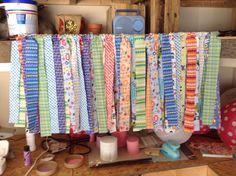 Rag style curtain for nursery.