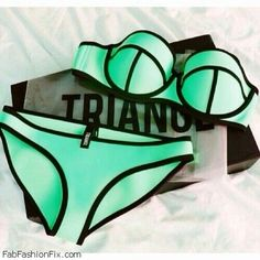 Love for Triangl swimwear. Miami couture! Gotta but this too!
