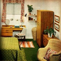 bedroom on a budget 1960s | Flickr - Photo Sharing!