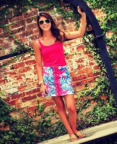 Lilly Pulitzer Tate Skirt in She She Shells, via gracelabbott