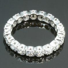 Diamond estate eternity band by adinantiquejewellery on Etsy, $1150.00