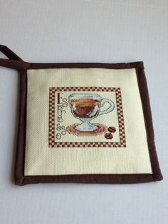 A personal favorite from my Etsy shop https://www.etsy.com/listing/270683454/espresso-coffee-cross-stitch-potholder