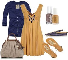 Mustard & Navy. These colors were just meant for each other:)