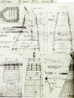 The Dead Planet – Dalek concept drawings.