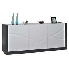 Searching for contemporary #livingroom #furniture? Check out Elypse #sideboard in dark grey wooden body as a perfect addition which easily blends with existing #décor.