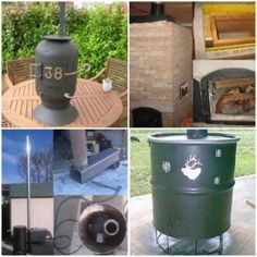 12 Homemade Wood Burning Stoves And Heaters Plans And Ideas Homestead Survival, Survival Prepping, Emergency Preparedness, Survival Tools, Outside Wood Stove, Diy Wood Stove, Camper, Cooking Stove, Patio Heater