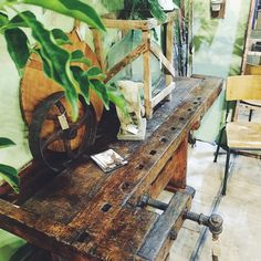 Original French work bench - call (02) 9973 4268 for enquiries. - AVAILABLE   #interiors #original #french #europeanfurniture #frenchworkbench #oldworkbench #originalfurniture #homewares #rustichome #rustic #countryhome #interiordesign #interiorstyling