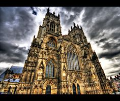 York Minster is the second largest Gothic cathedral of Northern Europe. The pres… York Minster is the second largest Gothic … York Minster, Hdr Architecture, Beautiful Architecture, Gothic Cathedral, Cathedral Church, Milan, Hdr Photography, Place Of Worship, Vacation Places