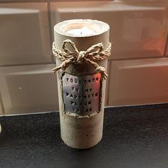 Betongljusstake gjuten i ett Pringlesrör ~~~ Candle light holder made of concrete ~~~ https://www.instagram.com/jossanspysselochbak/