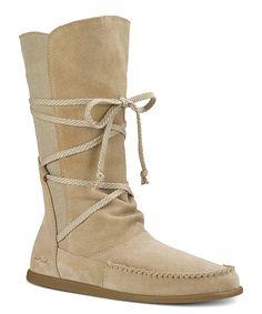 Loving this Sanuk Sand Sangria Suede Boot - Women on #zulily! #zulilyfinds