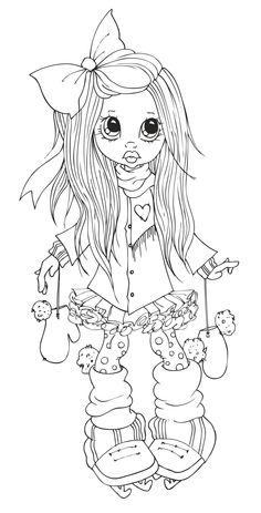 Printable cute girle on skating coloring page - Printable Coloring Pages For Kids Colouring Pics, Coloring Book Pages, Printable Coloring Pages, Coloring Pages For Kids, Colorful Drawings, Colorful Pictures, Copics, Prismacolor, Digital Stamps