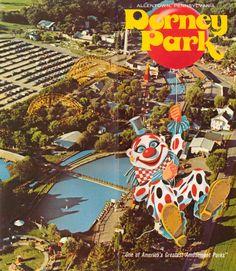 Cover of 1970's Dorney Park Brochure