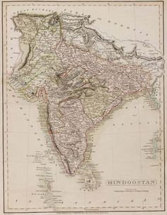 stock images high resolution antique maps of india