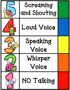 """voice level poster... I was planning on making something similar tomorrow anyway, but this is pretty adorable. Shouldn't """"No Talking"""" be 0 though?"""