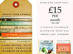 Choose your genre: Youth Fiction, Sci Fi, Classic Thriller, Children's or Random. Subscribe from only �12 per month.