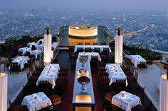 the best (and most expensive) dinner in my life - Sirocco Tower, Bangkok, Thailand (2012)