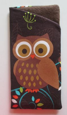 Cute Great Horned Owl Eye and Sunglasses case by AJoyfulCreation, $10.00