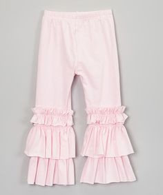 4742959107 Pixiedust Pretties Pink Ruffle Leggings - Infant