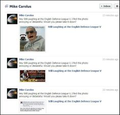 BUTTHURT OF THE DAY: Mike Carolus attempts to report bomb @SLATEDL, unfortunately he also CC'd his reports to the admin. #EDL