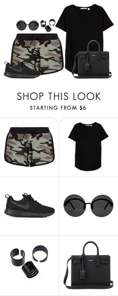 """""""."""" by owl00 ❤ liked on Polyvore featuring New Look, NIKE, Le Specs and Yves Saint Laurent"""