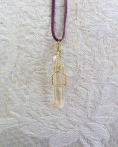 Ein persönlicher Favorit aus meinem Etsy-Shop https://www.etsy.com/de/listing/472090908/clear-quartz-necklace
