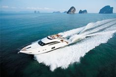The deep-V hull of the Princess 64 uses the latest infusion technology to reduce weight and improve efficiency.  To read the complete article, visit the Navis Yachts webpage, visiting the link above.