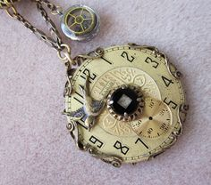 SOLD Antique Vintage Repurposed Pocket Watch NECKLACE by jryendesigns.etsy.com