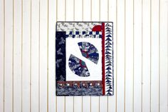 Modern Handmade Asian Pattern Quilt Patchwork FANS, Japanese Pattern, Japanese Quilt, Asian Quilt, Wall Hanging, Table Runner, Table Mat von SolvejgMayerQuilts auf Etsy