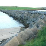 Orkney islands...East Mainland is connected to Burray and South Ronaldsay by the Churchill Barriers and it is the purpose of these and the attacks during the wars that has shaped what we see here today.
