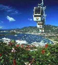 "st thomas skyride - It is high up there and you can get "" high"" getting there! Plants all over the mountain side!"