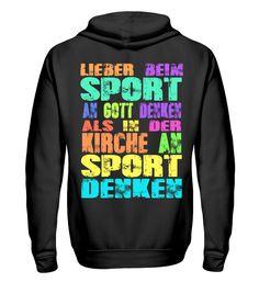 Sport und Kirche T-Shirt Unisex, Kirchen, Sport, Hoodies, Sweaters, Fashion, Moda, Deporte, Sweatshirts