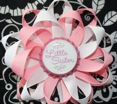 Little Sister Bottle Cap Hair Bow and Headband
