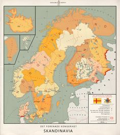 This is a map showing the administration centers of the fictional (or alternative historical) state United Kingdom of Scandinavia. As one might imagine, this all began with the Kalmar Union in 1397...