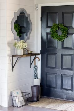 DIY Spring entryway transformation (a small foyer on a budget!)