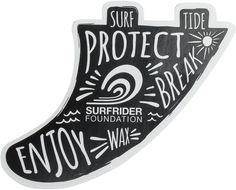 SURFRIDER SURF FIN STICKER