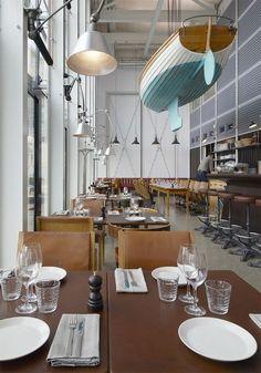 Oaxen Krog & Slip: A Marine-Inspired Restaurant in Stockholm - Remodelista