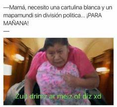 ★★★★★ Memes muy graciosos: Una cartulina y un mapamundi para mañana I➨ http://www.diverint.com/memes-graciosos-cartulina-mapamundi-manana/ →  #memesdivertidoschilenos #memesdivertidosparacompartir #memesgraciosos #memesgraciososespañol #memesgraciososparadescargar