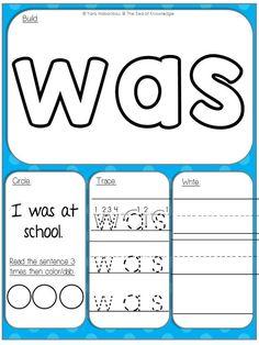 Free sight word mats