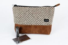 Herringbone recycled wool and leather Extra Large  by System63, $74.00