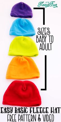I love this easy basic fleece hat tutorial. I love the free pattern that comes with it.  Perfect for beginners and there are so many cute modifications for it. #sewingprojects #fleecesewingproject #fleecehatdiy #freesewingpattern #sewingpatterns #beginnersewing