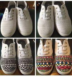 DIY personalized sneakers