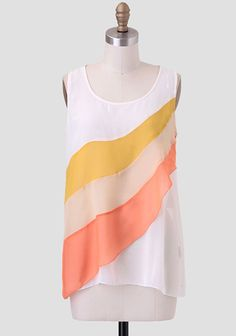 Rays Of Sunshine Colorblocked Blouse at #Ruche @Ruche
